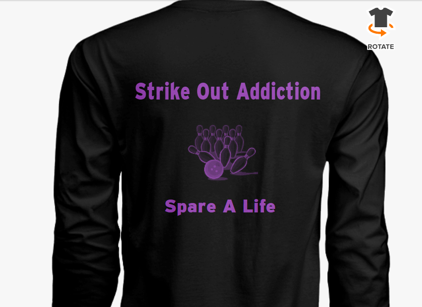 Bowling event with 2XL Long Sleeve Tee Shirt